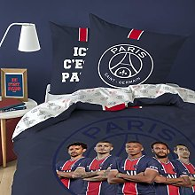 PSG Five Parure de lit Enfant 100% Coton, Housse