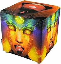 PSYWORK Tabouret cube Vermilion 40 cm