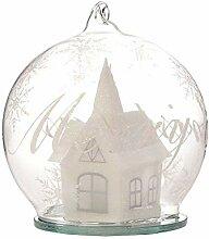 Puckator Boule de Noël en Verre à LED enneigée