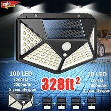 Puissant LED Solaire Lumière Extérieure Pour