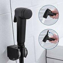 Pulvérisateur manuel de toilette en noir ABS, kit