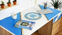 Pur Fan Bureau, Bois, Bleu/Blanc, 150x75x65