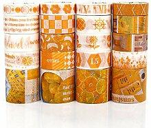 PuTwo Washi Tape, Masking Tape 20 Rouleaux,