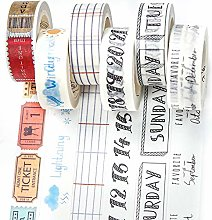 PuTwo Washi Tape, Masking Tape 6 Rouleaux, 15mm