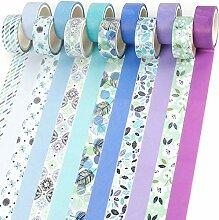 PuTwo Washi Tape, Masking Tape Pastel 12 Rouleaux,