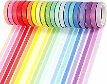 PuTwo Washi Tape, Masking Tape Pastel 20 Rouleaux,