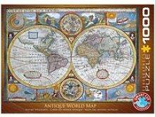Puzzle 1000 pièces : carte du monde antique