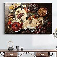 Puzzle, 1000 pièces carte du monde cuisine art