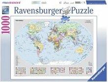 Puzzle 1000 pièces - carte du monde : politique