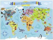 Puzzle 150 pièces : carte du monde FC-1-9204715
