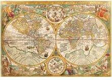 Puzzle 2000 pièces : ancienne carte du monde