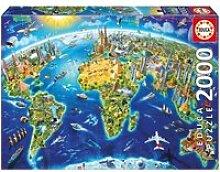 Puzzle 2000 pièces :  symboles du monde