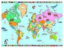 Puzzle 250 pièces - carte du monde FC-1-4197712