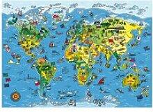 Puzzle 250 pièces : carte du monde