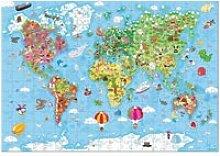 Puzzle carte du monde 300 pieces J02775