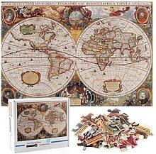 Puzzle de la carte du monde Antique, 1000 pièces
