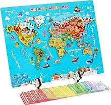 Puzzle en bois avec carte du monde - Carte du