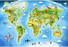 Puzzle maxi 40 pièces : carte du monde