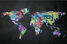 Puzzle pièces 5000 carte du monde coloré puzzle
