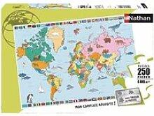 Puzzle puzzle 250 pcs carte du monde