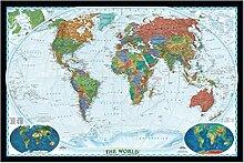 Puzzles 3000 pièces pour adultes-affiche de carte