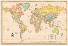 Puzzles 500 carte du monde 500 pièce Puzzle