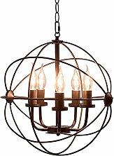PXY Chandeliers de Globe Industriel 5-Lumière,