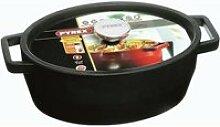PYREX Cocotte ovale Slow Cook - 5,8 L - Gris