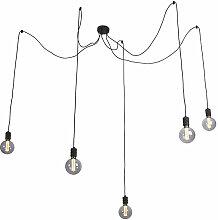 QAZQA cavalux - LED Suspension Design - 5 lumière