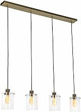 QAZQA dome - Suspension Moderne - 4 lumière - L