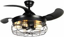 QAZQA gaiola - Ventilateur de plafond Industriel -