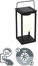 Qazqa - Lampe d'extérieur Moderne noire avec