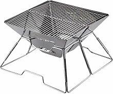 QAZW Gril De Barbecue Pliant Portatif Grand
