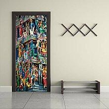 Qazwsxedc 3D Porte Autocollants Salon Chambre