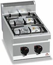 QDM Réchaud à gaz professionnel 2 feux - 9 / 10