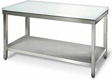QDM Table de découpe centrale avec étagère 700