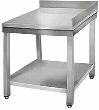 QDM Tables de travail inox d'angle adossées