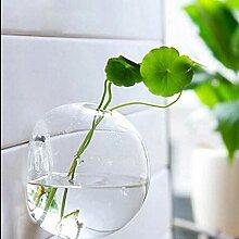 QFERW Vase Home Suspendus Boule de Verre