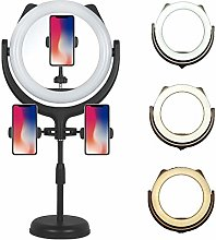 QFXFL LED Ring Light avec Trépied et 3 Support de