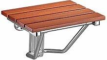 QGL-HQ En bois massif pliant Chaise de douche Old
