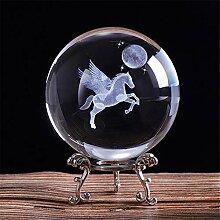 qianyue 80mm 3D Laser Gravé Miniature Pegasus