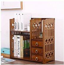 QIAOLI Bibliothèque de bureau en bambou sculpté