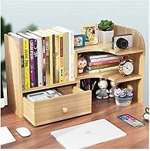 QIAOLI Bibliothèque de bureau extensible en bois