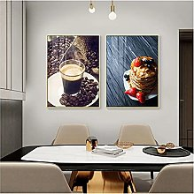 QIAOZ Art Mural, Cuisine Minimaliste Moderne