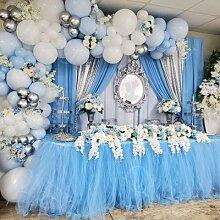 QIFU – guirlande de ballons macaron bleu en arc,