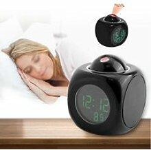 Qiilu horloge LED Affichage de la température