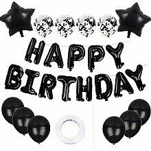 QIMMU Set de ballons Happy Birthday, bannière