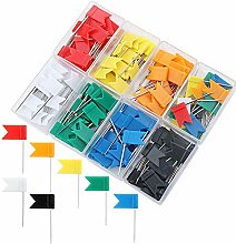 Qinlee 160 Pièces 8 couleurs Office Punaise