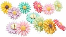 Qinlee 6pcs Office Punaise Couleur de la fleur