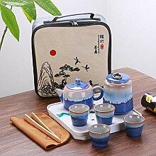 QINS Service à thé Portable Voyage Service à